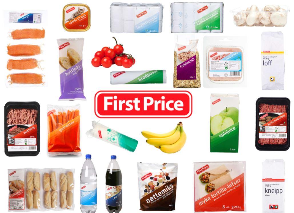 Los prodcutos marcados como first price son los productos más baratos del supermercado KIWI