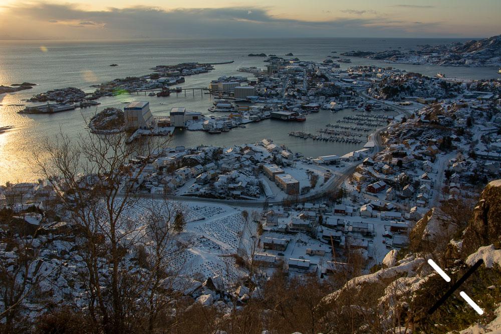 Vista de Svolvær a la mitad de la ruta