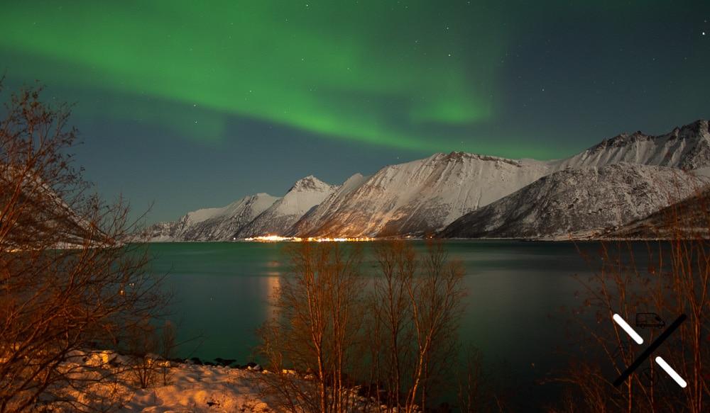 Las auroras que hemos visto tienden al verde y en ocasiones al rosa