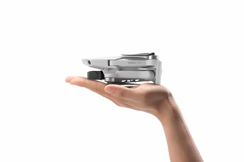 El DJI mini es realmente pequeño