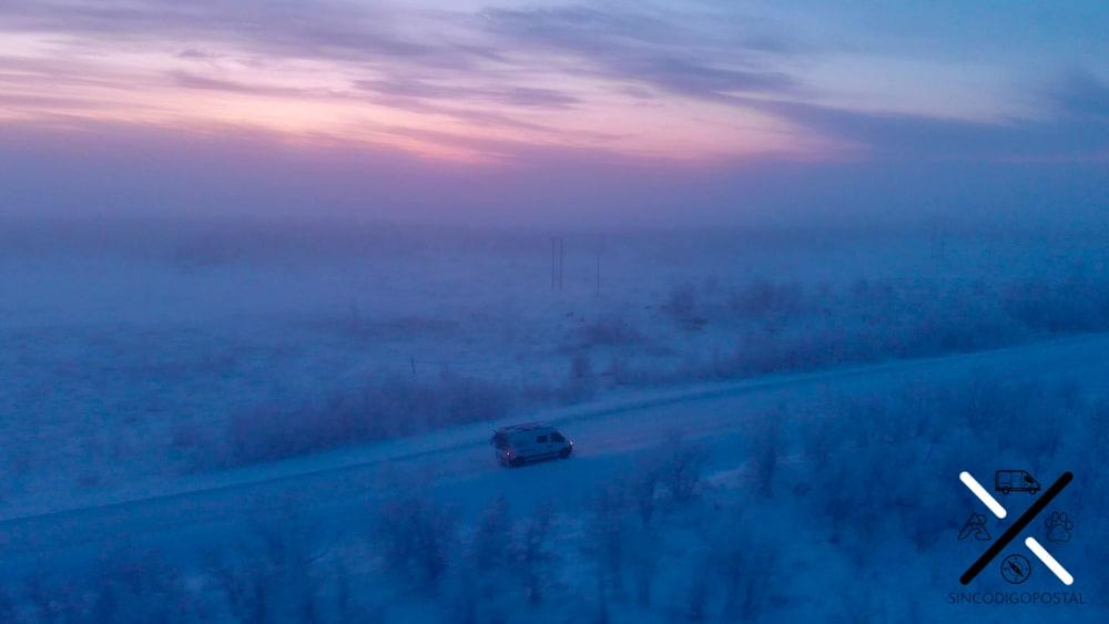 Con frío, como esta toma (-17ºC), hay que extremar la precaución