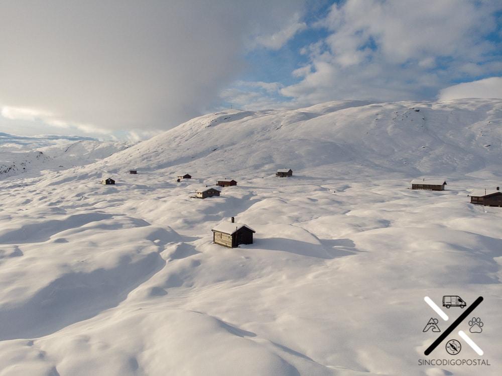 Uno de los parajes invernales en Noruega