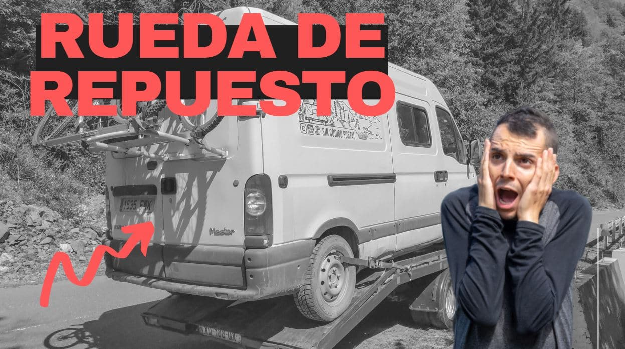 soporte rueda de repuesto furgoneta o autocaravana