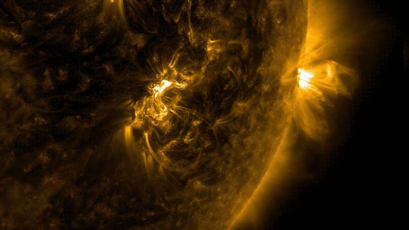 En las tormentas solares, las auroras son más intensas