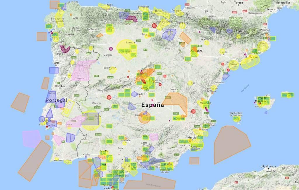 Mapa de las zonas de restricción de España