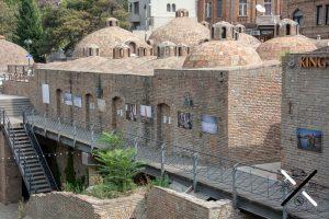 Antiguos baños de azufre en el barrio de Abanotubani