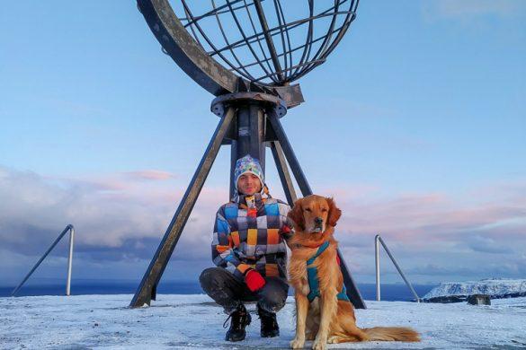 Bola del mundo de Cabo Norte o NordKapp