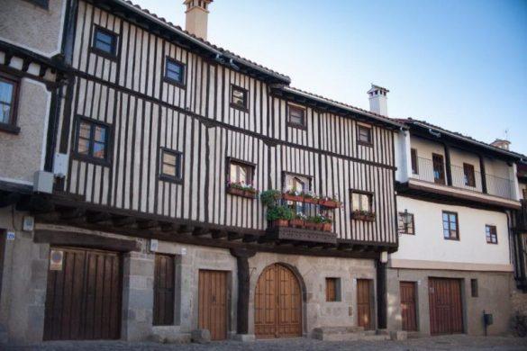 Casas tradicionales en La Alberca (Salamanca)