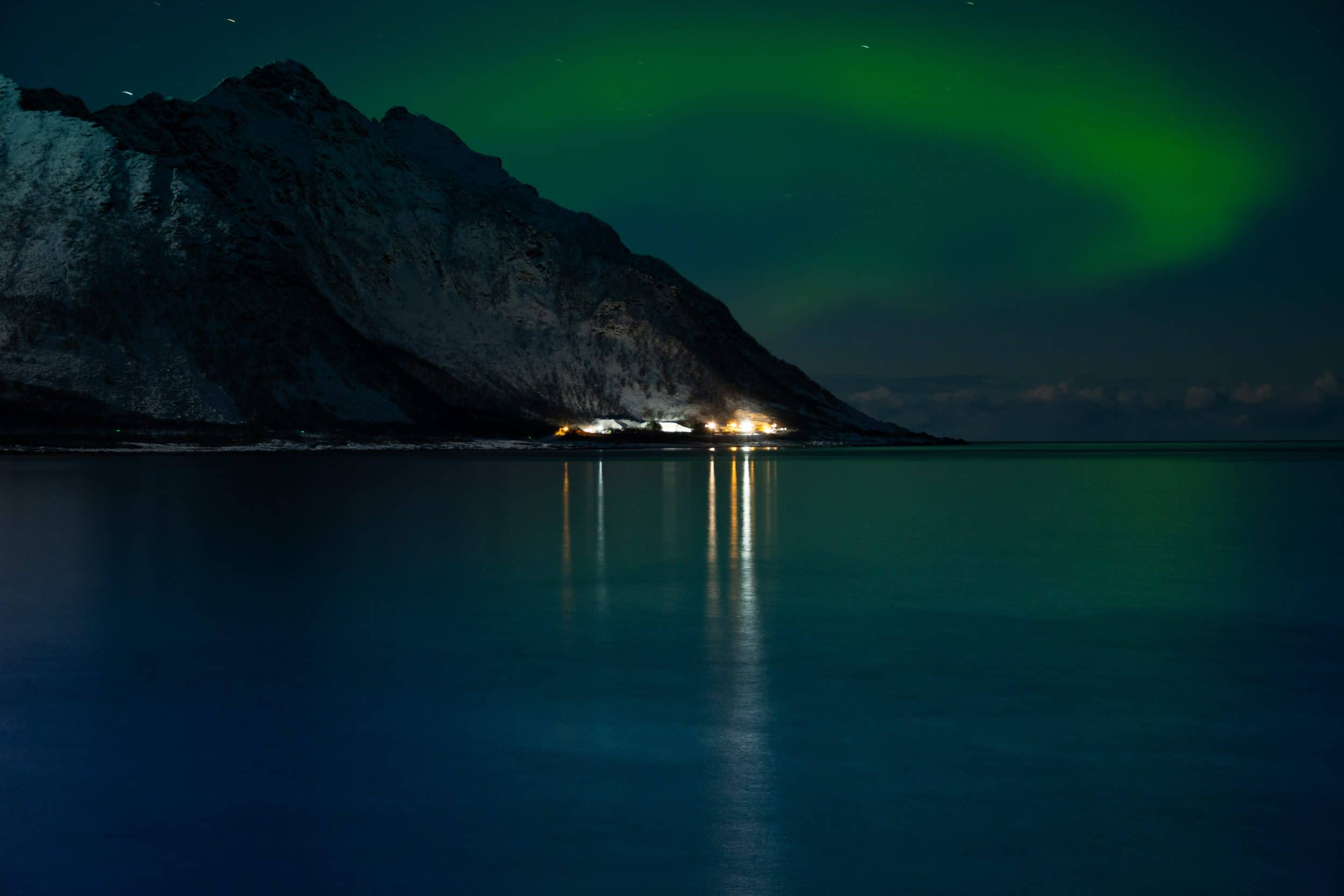 Aurora boreal en Senja