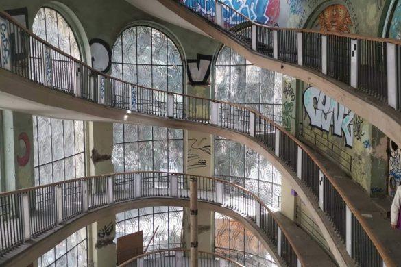 Estación de teleférico abandonada en Tbilisi