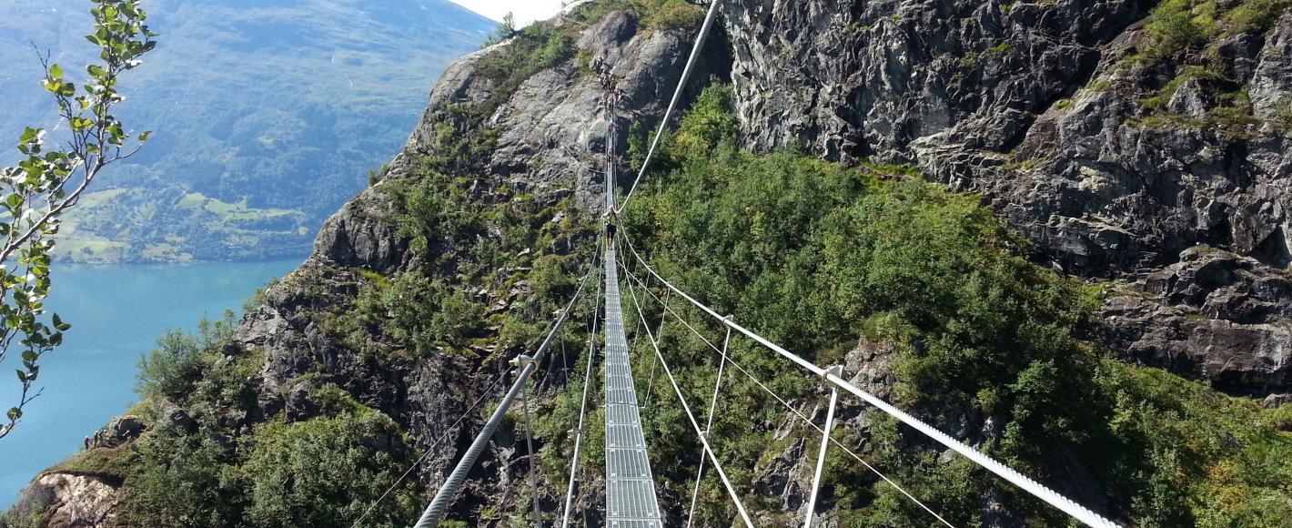 Ferrata de Loen y su gran puente colgante
