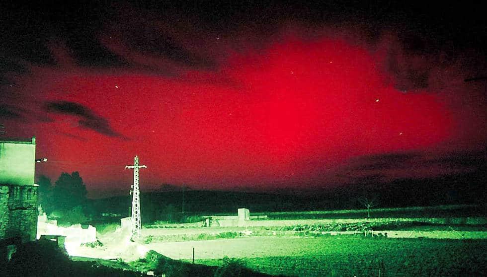En España las auroras que se suelen ver tienen todos rojizos