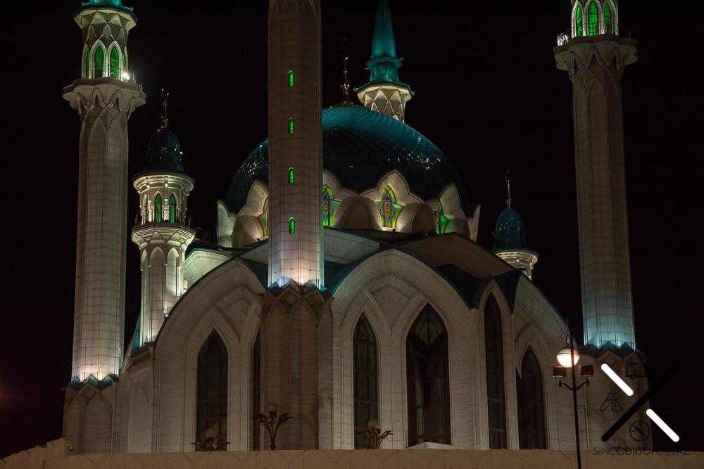 El Kremlin e Kazan de noche