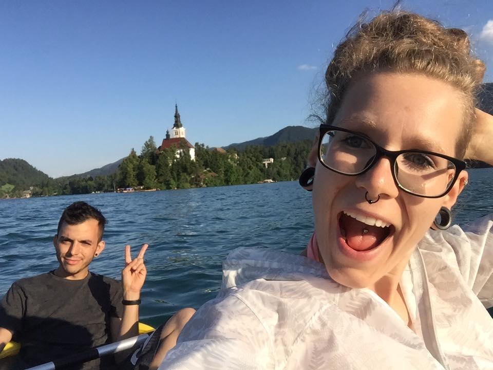 En kayak por el lago Bled