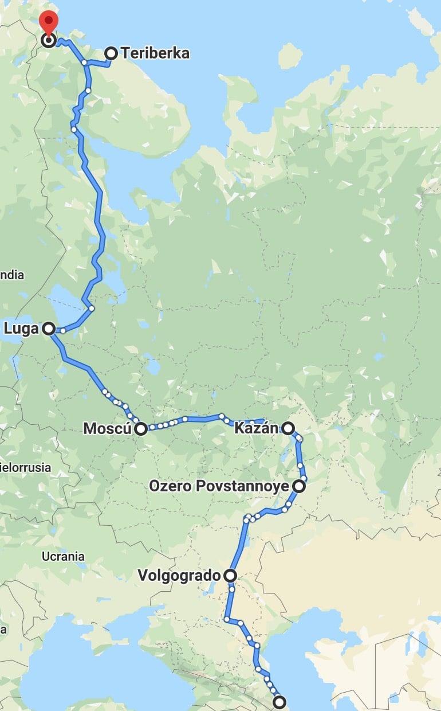 Nuestra ruta por Rusia