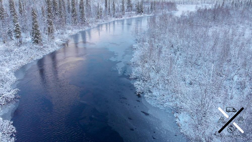 Los paisajes del invierno del norte son impresionantes