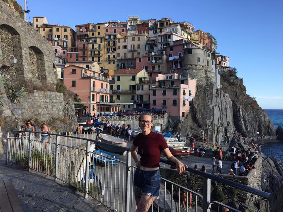 Rocío en Cinque Terre