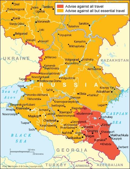 Zona rusa donde a no se aconseja viajar