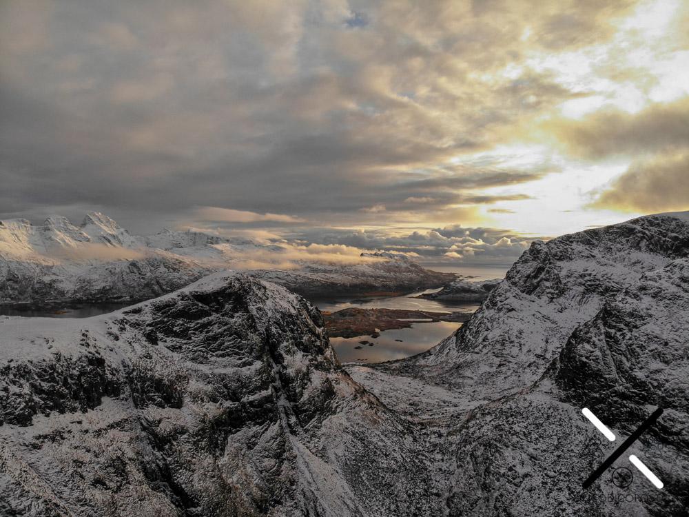 Vista aérea de Lofoten