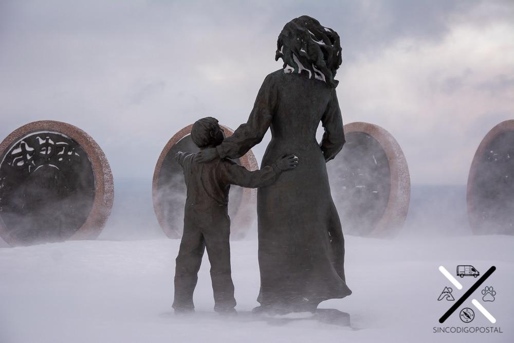 Monumento a los niños del mundo de Cabo Norte