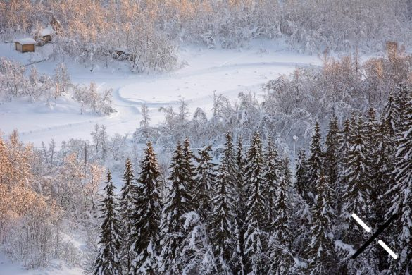 Preciosas vistas desde la torre del salto de esquí