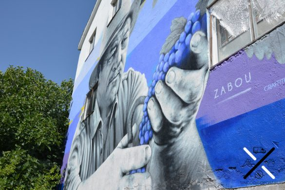 En los murales representan los principales trabajos que se desempeñan en esta zona