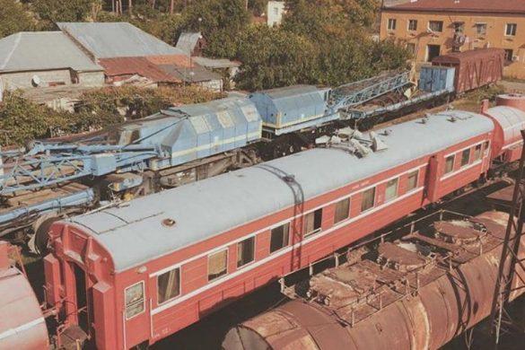 Estación de tren abandonada en Tbilisi