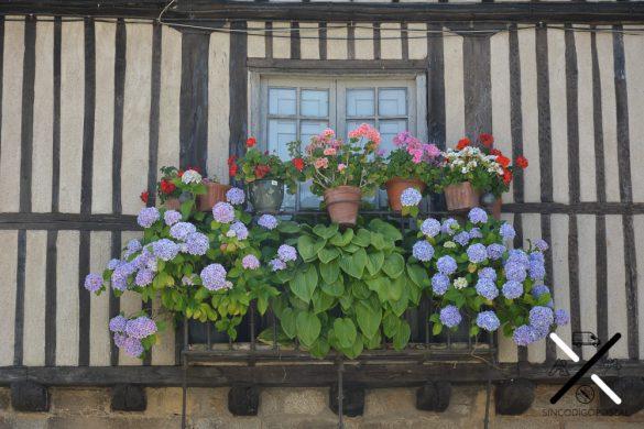 Los balcones de La Alberca llaman la atención desde la lejanía por el cuidado con el que los decoran