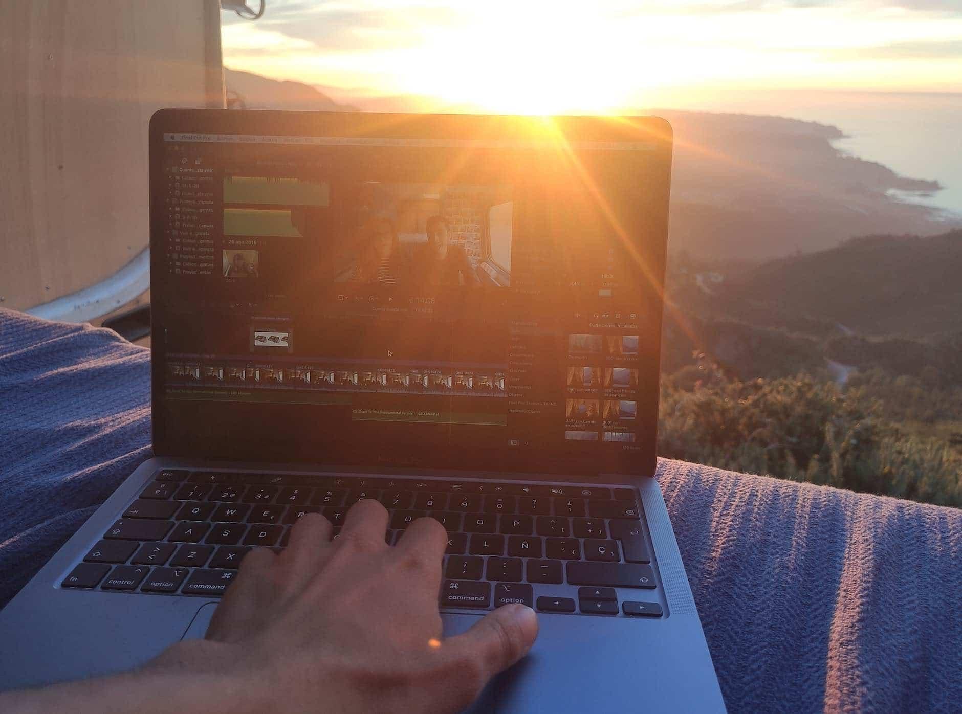 Tenemos la suerte de poder trabajar con vistas de paisajes espectaculares