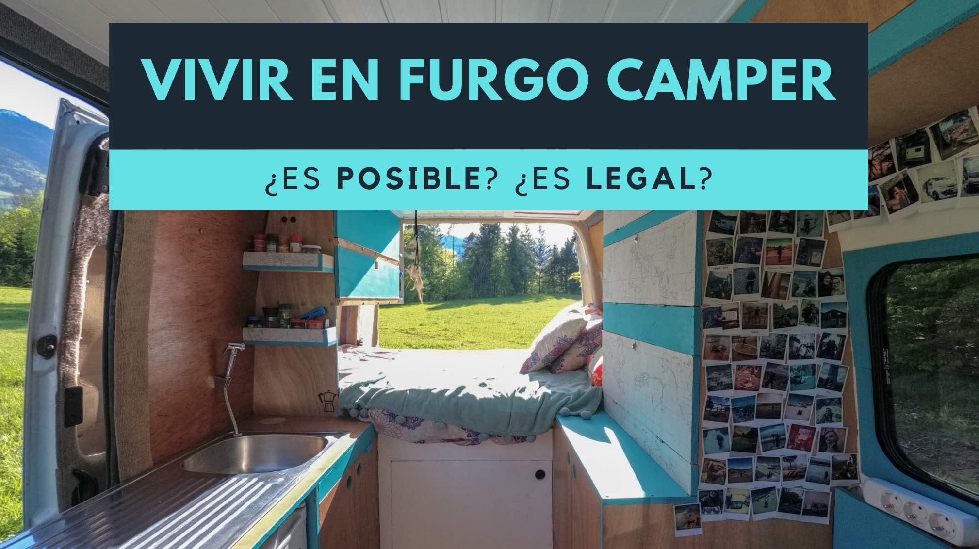 Vivir en furgoneta camper es legal