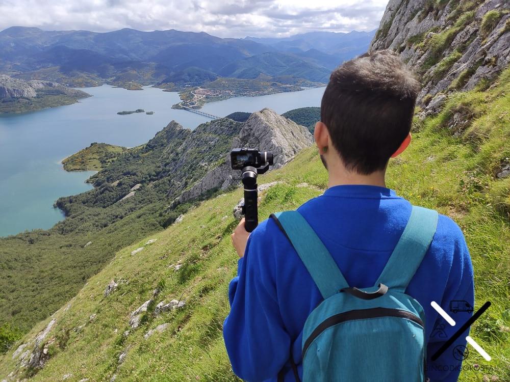 Grabando los Fiordos Leoneses, subiendo al Pico Gilbo en Riaño