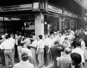 La tienda de café Kurukahveci Mehmet Efendi. Nos apasiona haber estado en una tienda con tanta historia