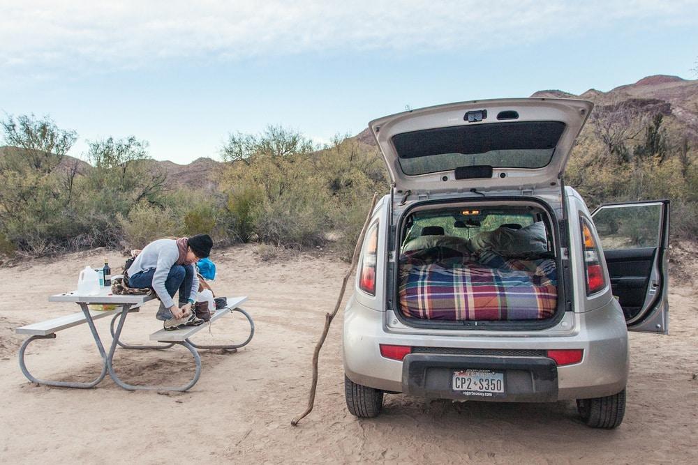 La vida camper en un coche es también posible :)