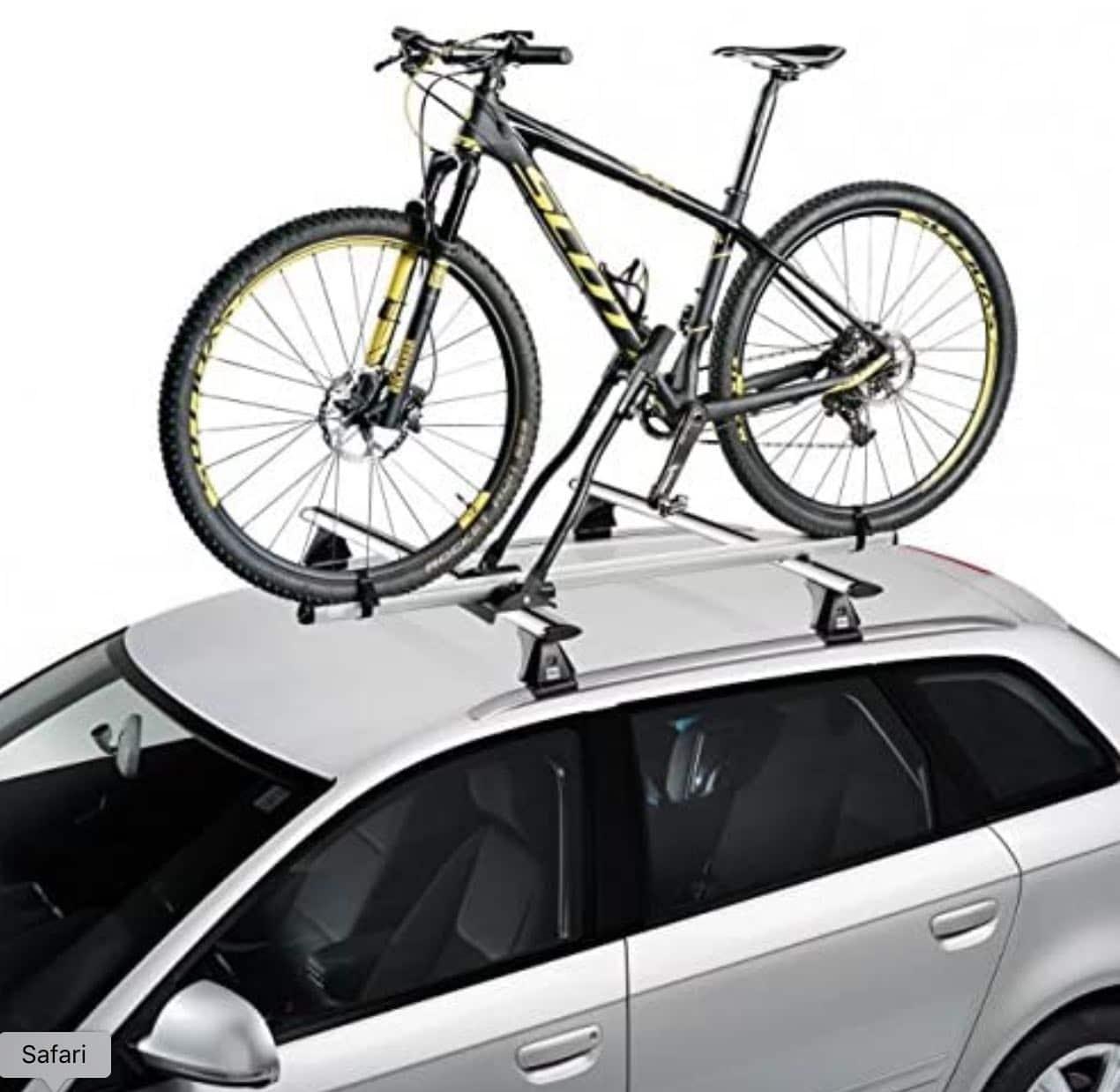 Portabicicletas en el techo del coche