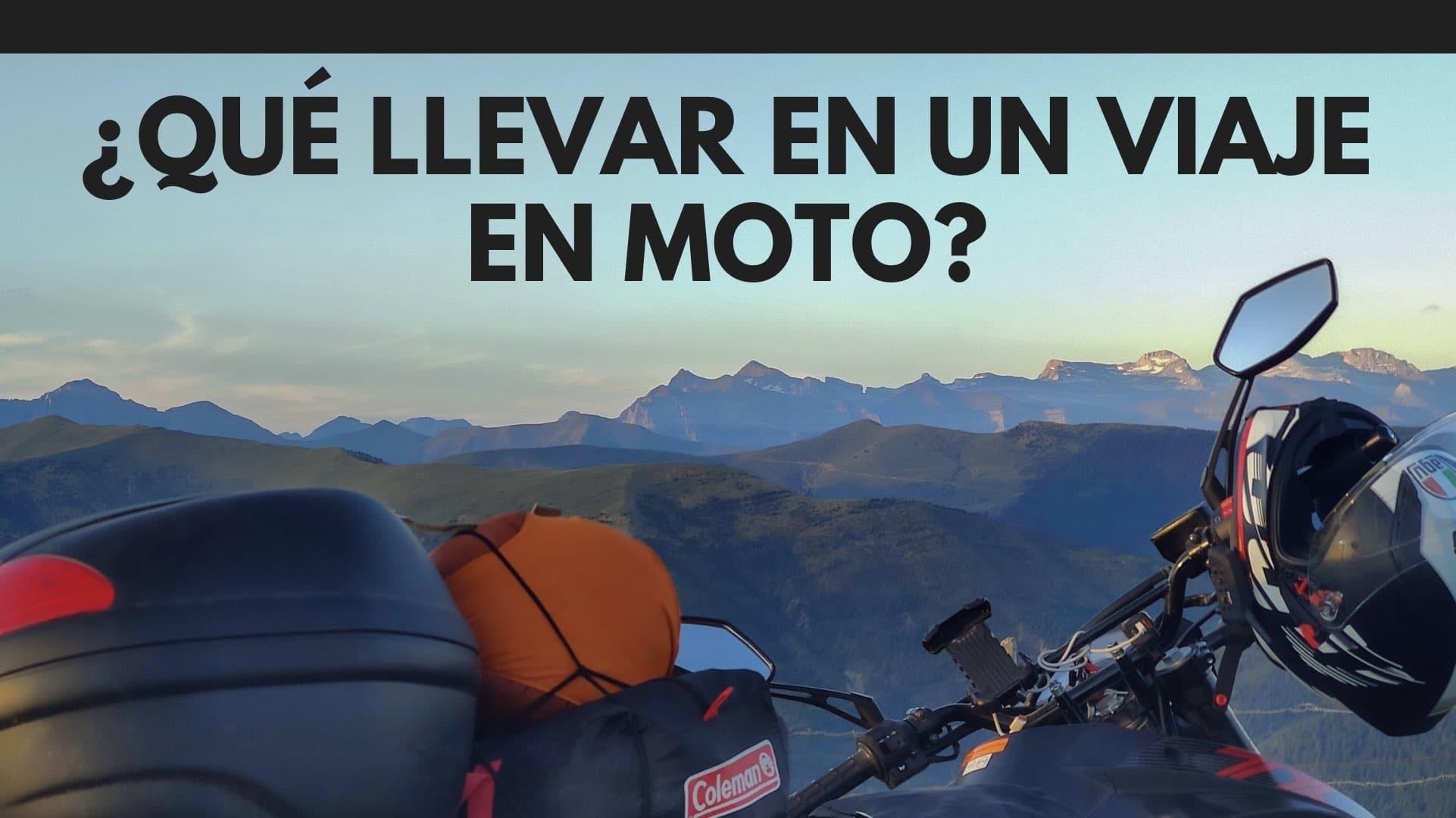 ¿Qué llevar en un viaje en moto?