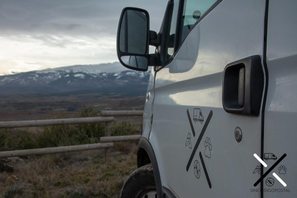 Pernoctar en furgoneta camper en Zaragoza, Mirador de la Diezma