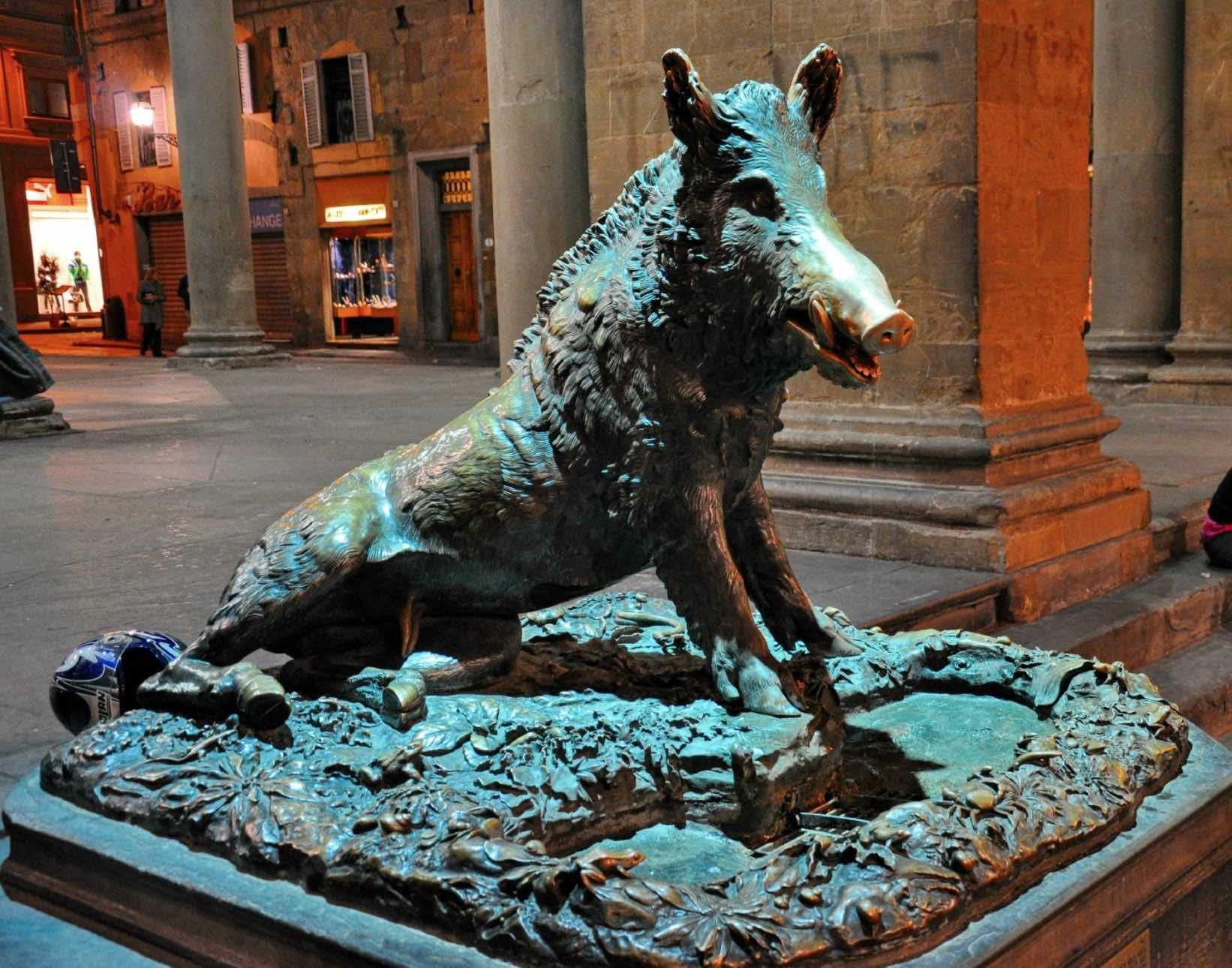 Fuente del Porcellino en Florencia