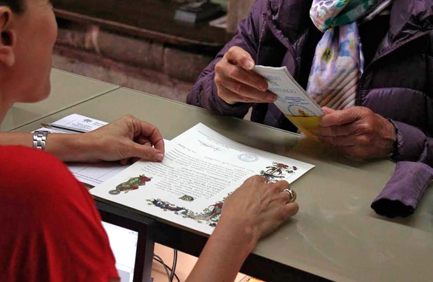 La Compostelana. foto. oficina de acogida al peregrino