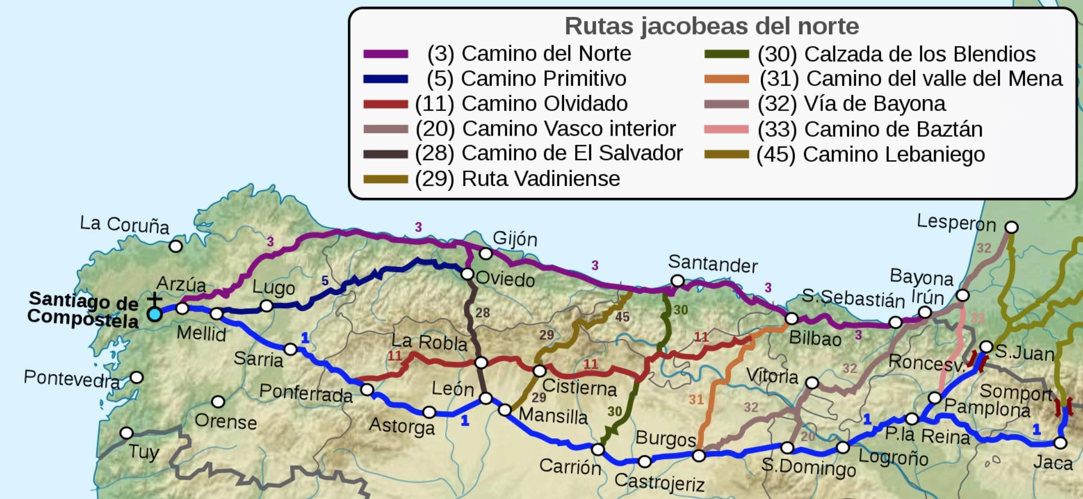Rutas jacobeas Camino de Santiago. foto Paulusburg