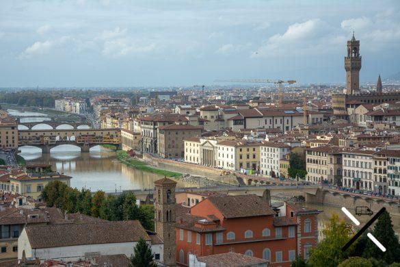 Vistas panorámicas desde Piazzale Michelangelo Florencia