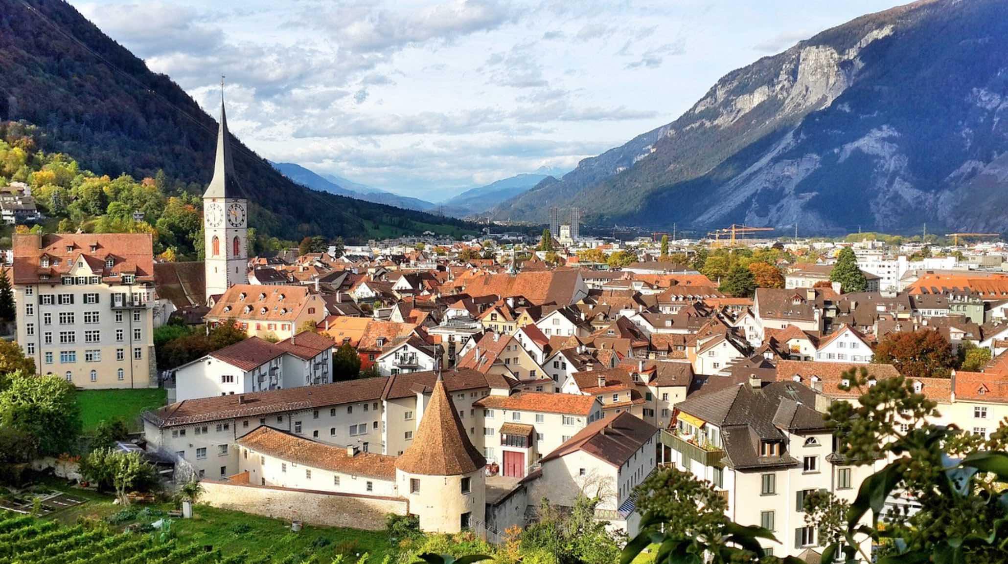 Ciudad de Chur suiza