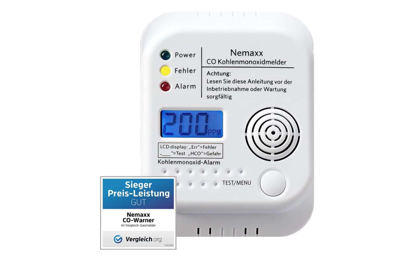 detector de monóxido de carbono furgo