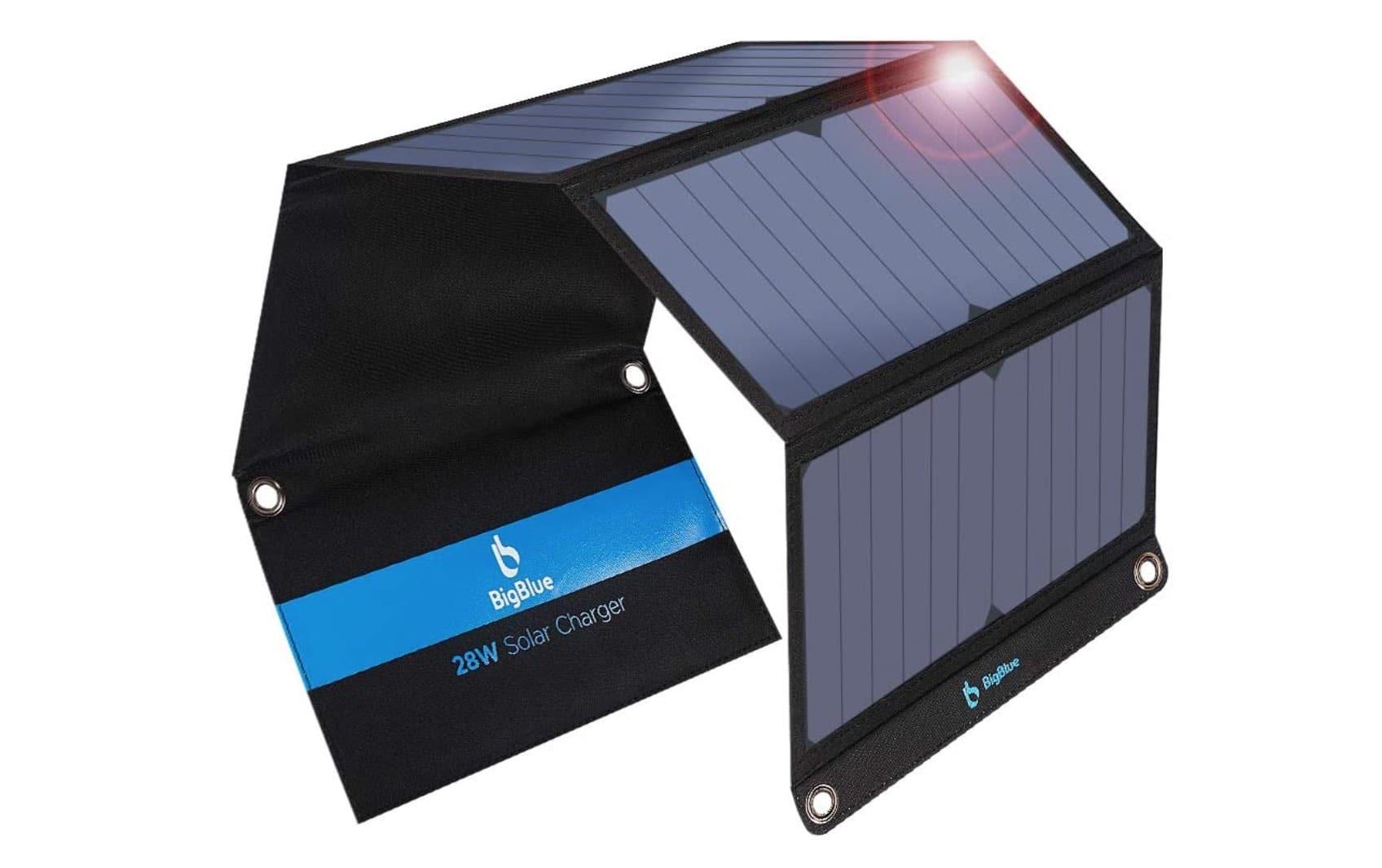 placa solar portátil camper o autocaravana