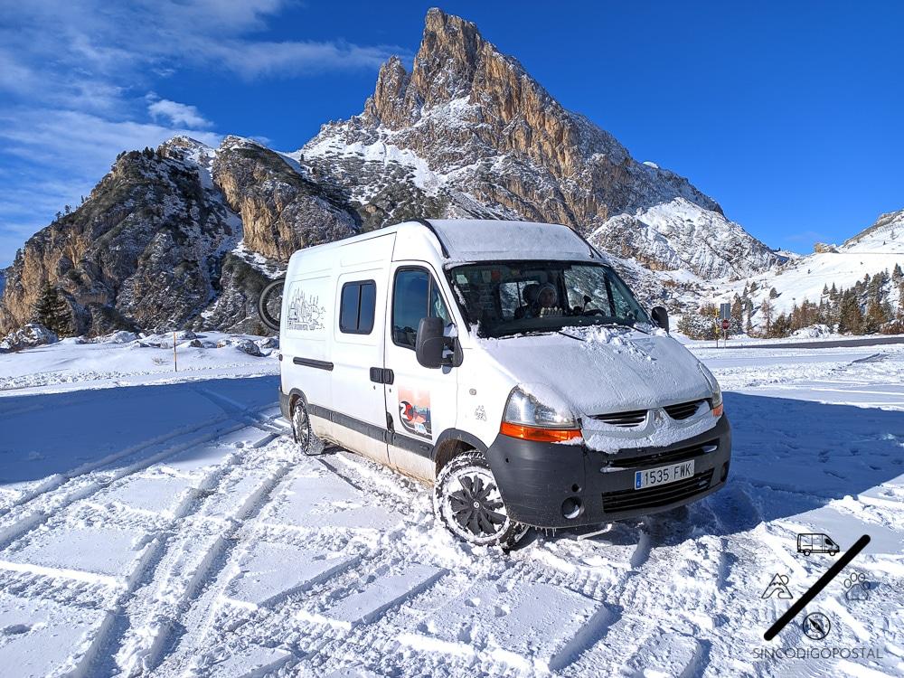Pernoctar con camper Dolomitas Cortina de Ampezzo