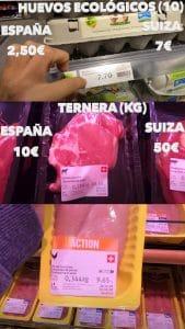 precios comida en suiza