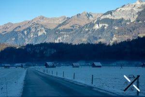 zonas de Suiza congeladas donde no da el sol