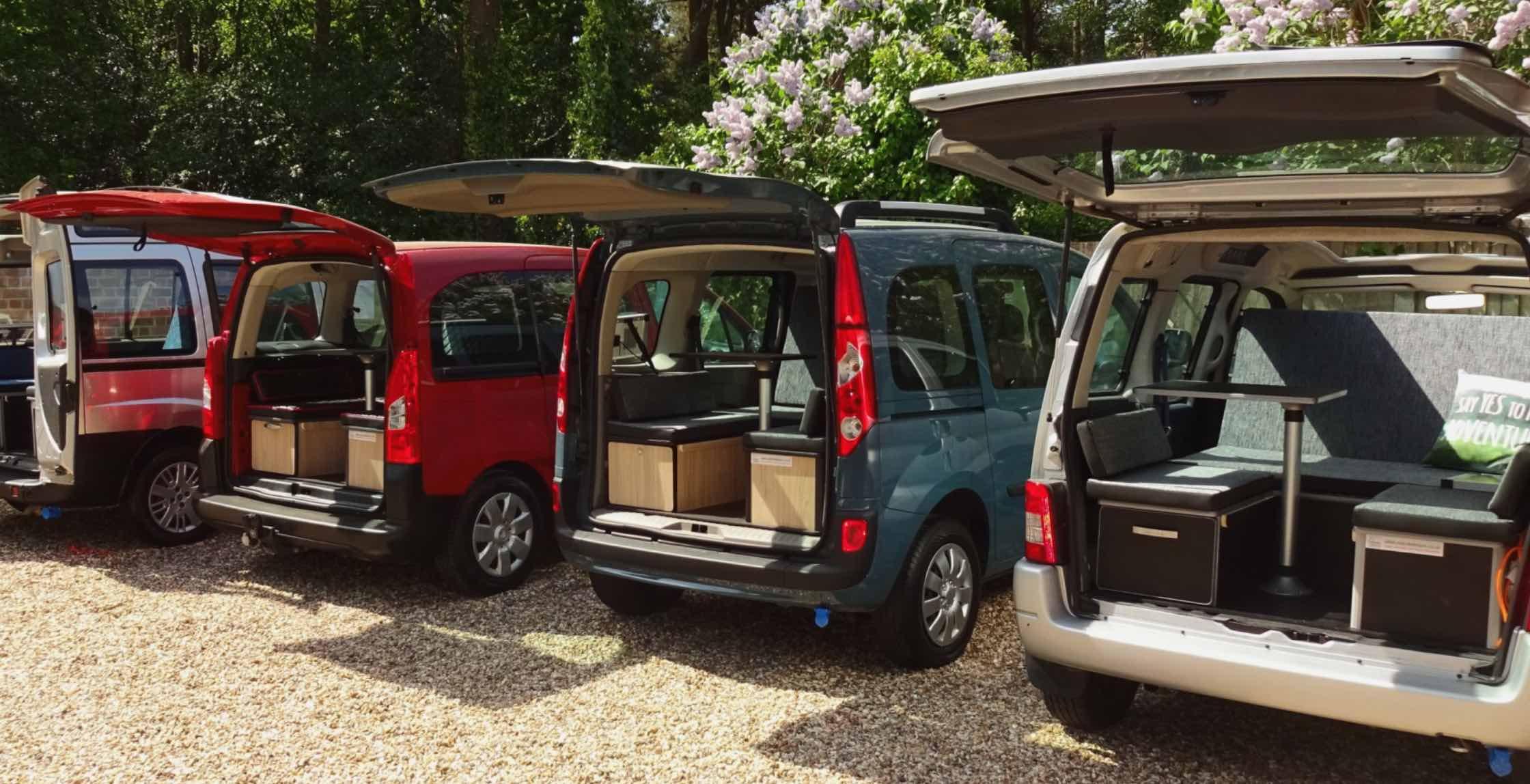 Citroen Berlingo, Ford Tourneo Connect, Peugeot Partner Camper (Redcoteleisure)