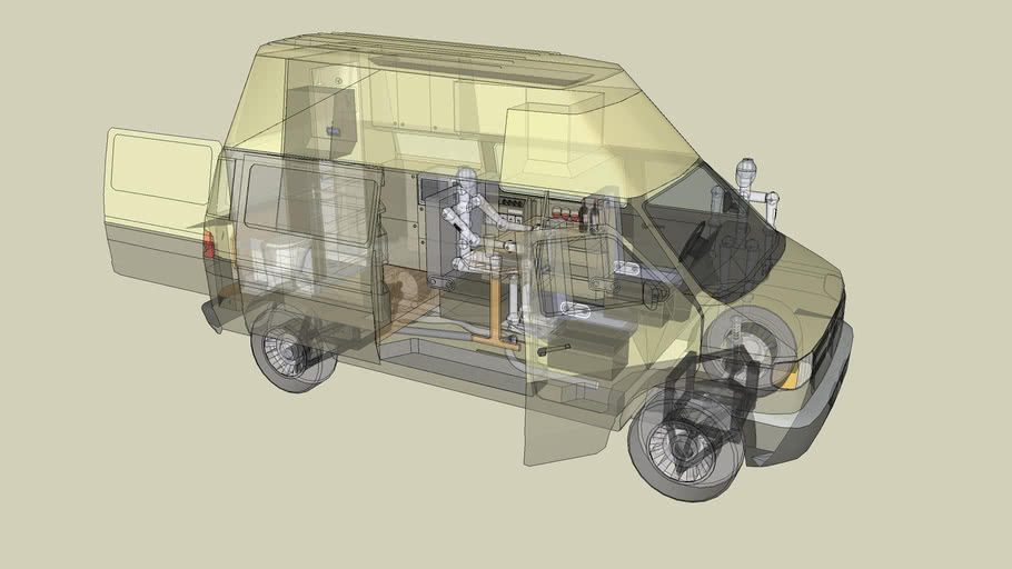 Concepto de diseño camper en 3D