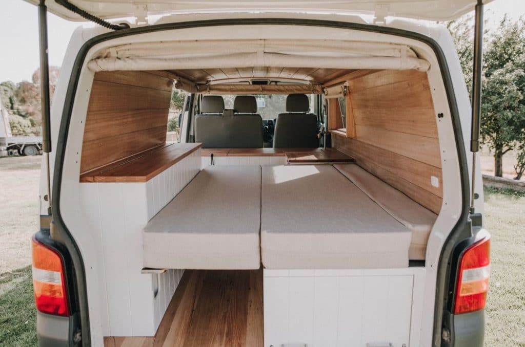 Cama plegable furgoneta camper (peachwoodco)