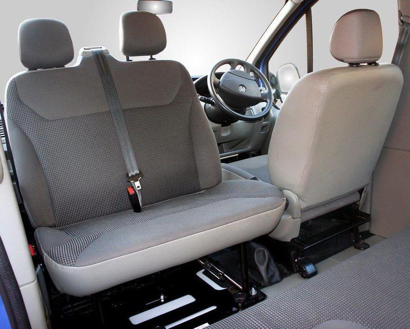 Los asientos dobles también se pueden girar